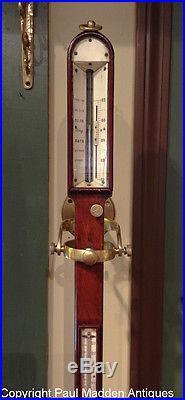 Antique English Marine Ship's Stick Barometer