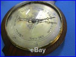 Antique English Oak Barometer