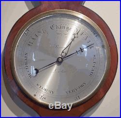 Antique English Wheel Barometer by Bruce, London circa 1840