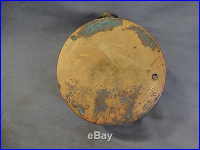 Antique FRENCH VICTORIAN Holosteric WALL BAROMETER Brass Plated COPPER Case HBNP