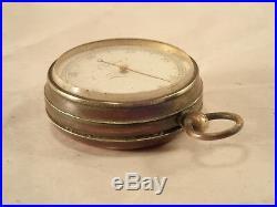 Antique F. DARTON, LONDON Gentlemen's Gilt Brass Cased Pocket Aneroid Barometer