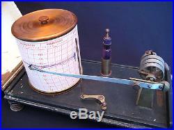 Antique F. Darton London Barograph Barometer Weather Station