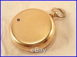 Antique F. ROBSON & CO. Gentleman's Brass Pocket Aneroid Barometer Altimeter