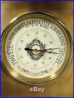 Antique Fine Empire Style PBHN 19th Century French Gilt Bronze Barometer