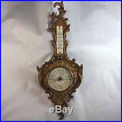 Antique French Bronze Barometer