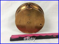Antique French HPBN Holosteric Brass Barometer