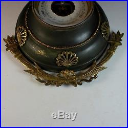 Antique French Napoleon III Aneroid Barometer with Ormolu Accents