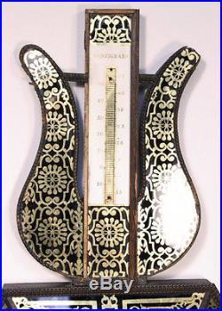 Antique French SELON TORICELLI Barometer. Louis XVI Gilt Glass PARIS. RARE