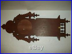 Antique French Thermometer / Barometer / Carved Wood Great Condition