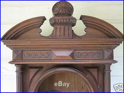 Antique French Weather Station Walnut Clock Case