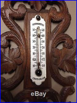 Antique French barometer, Black Forest style