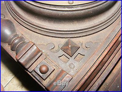 Antique German ANEROID Barometer In Hidden Eastlake Key Wall Cabinet