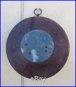 Antique German Art Deco Barometer c1920s Wood & Brass WORKS