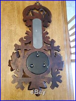 Antique German Black Forest Carved Barometer