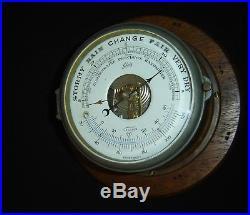 Antique Germany Schatz Marine Maritime Ship Barometer Stormy Rain Change Superb