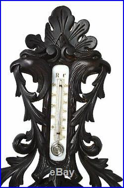 Antique Griffin and Leaf Carved Barometer, German