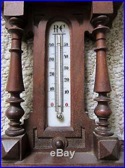 Antique Hermann Wertheimer Hand-Carved Barometer
