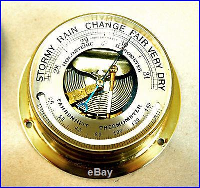 Antique Holosteric Barometer /PHBN Heavyweight brass Free Shipping in US