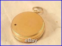 Antique J. HICKS, LONDON Gentleman's Brass Pocket Barometer Altimeter, 1900