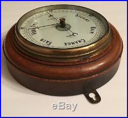 Antique J. Lizars Weather Barometer Glasgow Edinburgh Wall Mount Vintage Brass