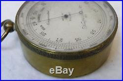 Antique KEUFFEL & ESSER CO. BAROMETER small barometer K&E surveyor equipment