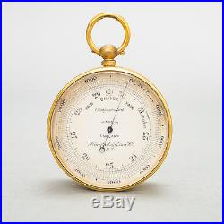 Antique Keuffel & Esser Pocket Watch Style Barometer Altimeter & Compass + Case
