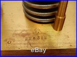 Antique L. Maxant Paris Barograph Barometer Mahogany Wood Case