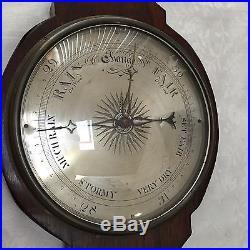 Antique Large Wheel Barometer J. Pensa & Son Circa 1835-40, 43.5 Long