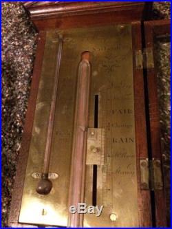 Antique Late 1700's Early 1800's Scottish Stick Barometer D. Stampa Edinburgh