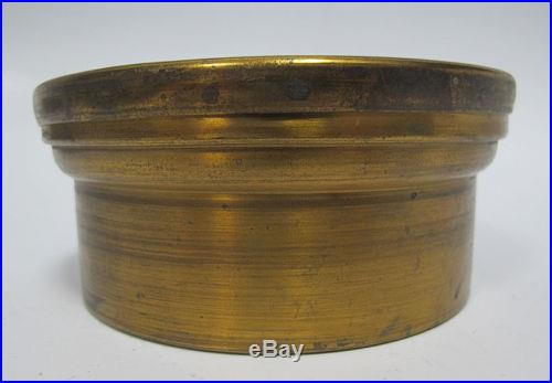 Antique Late 19th C Holosteric PNHB Barometer Aneroid John Naudet Brass Case yqz