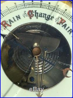 Antique Lufft German Oak Barometer Weather Station Parts Restoration