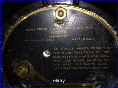 Antique MOVA Desktop Barometer Wm Christensen Co York Pa 1920's 30's