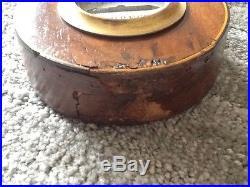 Antique Mahogany Banjo Barometer, Circa 1820's