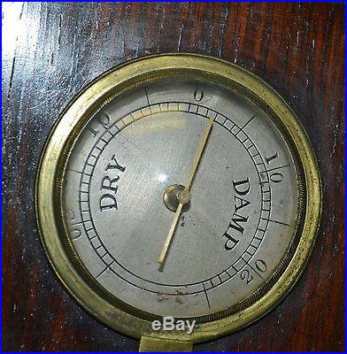 Antique Mahogany Banjo Barometer London D Fagioli & Son