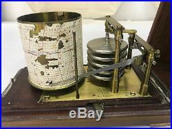 Antique-Manhattan Marine-Drum Barograph-Barometer-French Made-Scientific