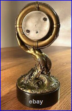Antique Maritime Barometer Guilt Mermaid Kerr Ship Line