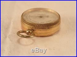 Antique NEGRETTI & ZAMBRA, LONDON Gentleman's Brass Pocket Barometer Altimeter