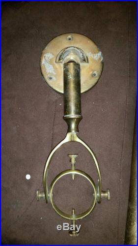 Antique Nautical Barometer Portuguese Late 1800s Early 1900s Brass