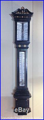 Antique Ornate Stick Barometer by J. H. Steward