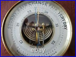 Antique PHBN Holosteric Barometer France E. B. Meyrowitz Copper 5x2 Wall Mount