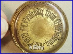 Antique POCKET BAROMETER by Negretti & Zambra, presented June 1 1879