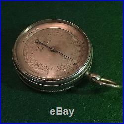 Antique Pocket Altimeter Barometer Made By Jules Richard Paris