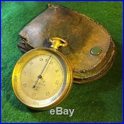 Antique Pocket Altimeter Barometer Made By Tycos Short Mason London