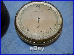 Antique Pocket Barometer Altimeter Compensated Science Weather Gauge withcase