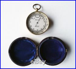 Antique Pocket Barometer, Altimeter, Dollond of London, circa 1870
