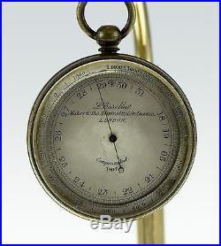 Antique Pocket Barometer & Altimeter L. Casellae London 1907