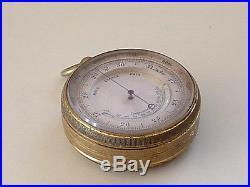 Antique Pocket Barometer Altimeter Thermometer