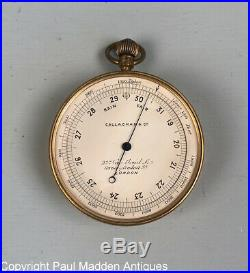 Antique Pocket Barometer / Altimeter by Callaghan & Co, London