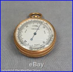 Antique Pocket Barometer / Altimeter in Case