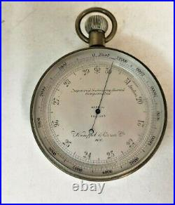 Antique Pocket Barometer By Keuffel& Esser N Y